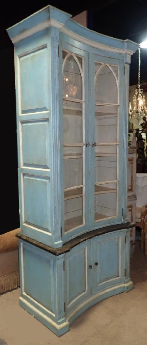 Continental Painted Curved Bibliotheque
