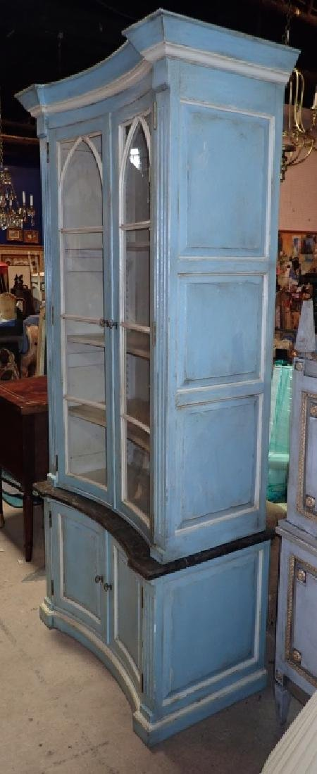 Continental Painted Curved Bibliotheque - 3
