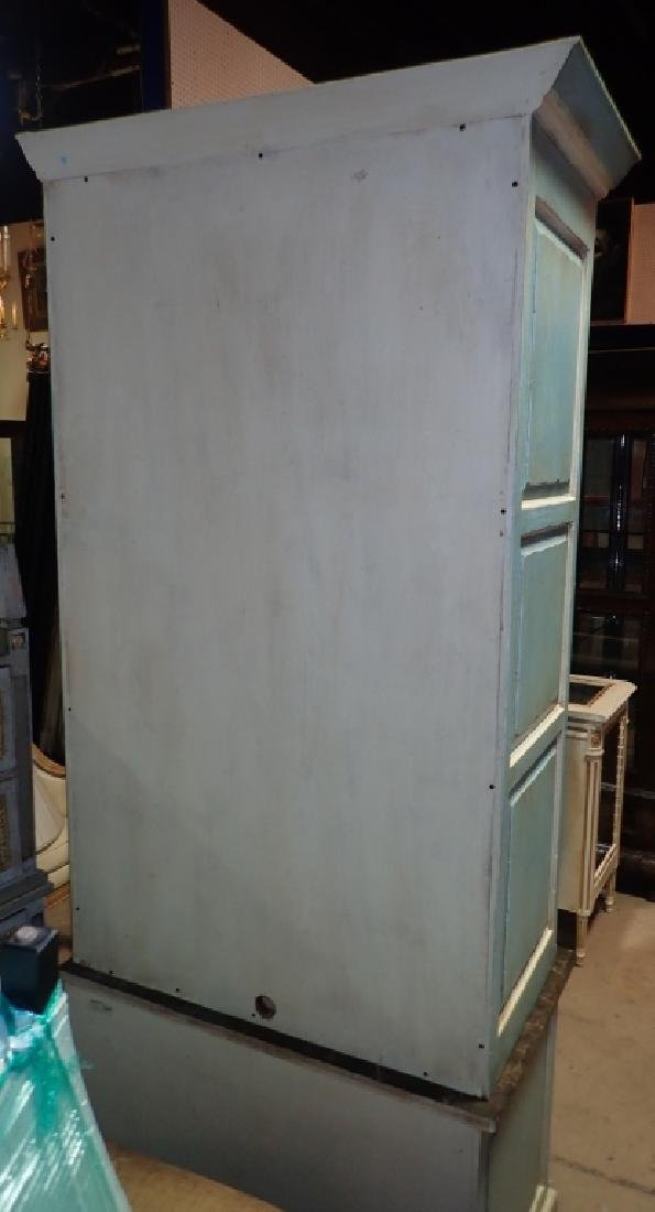 Continental Painted Curved Bibliotheque - 9