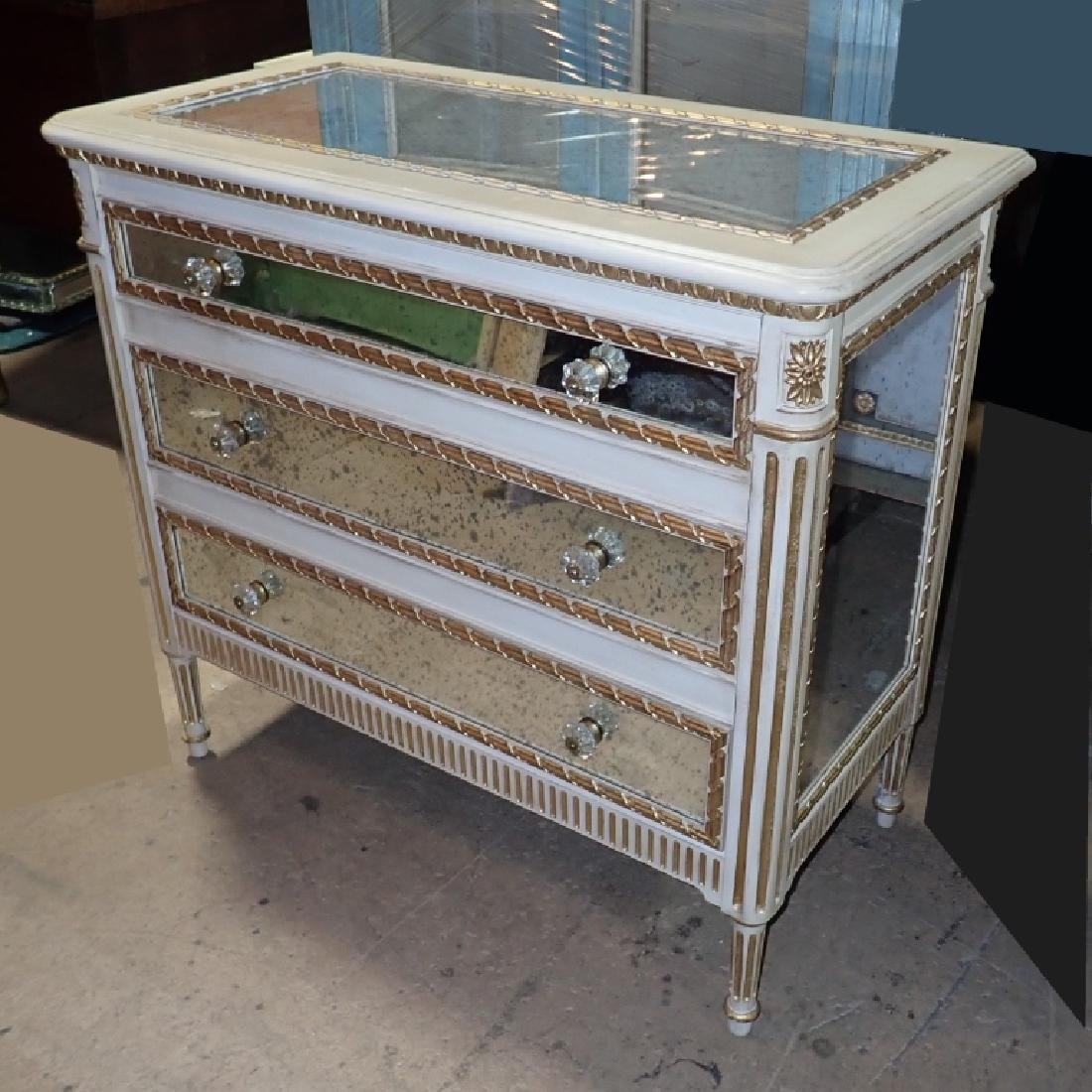 Louis XVI Style Mirrored Chest of Drawers