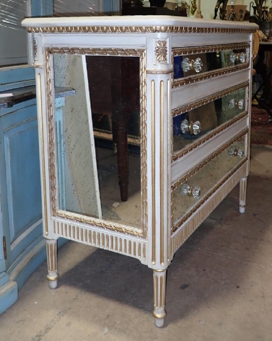 Louis XVI Style Mirrored Chest of Drawers - 2