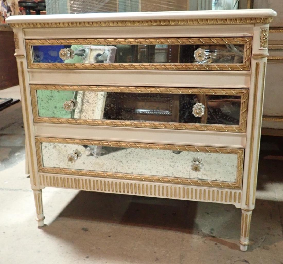 Louis XVI Style Mirrored Chest of Drawers - 3