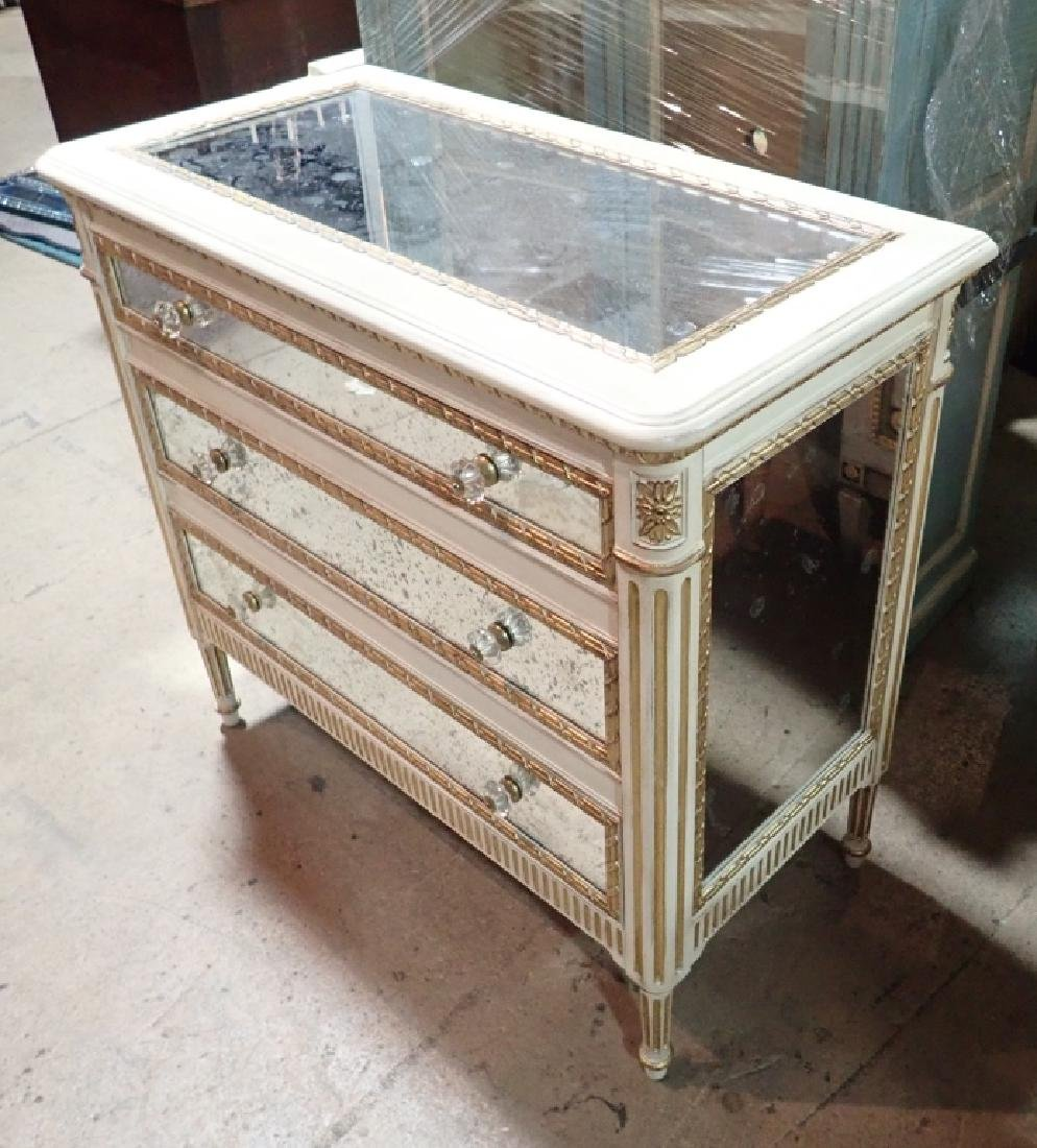 Louis XVI Style Mirrored Chest of Drawers - 4
