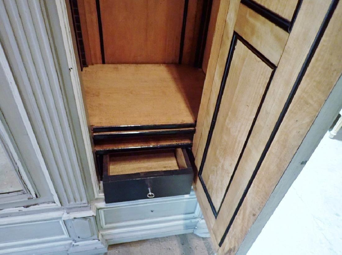 Louis XVI Style Three-Door Painted Armoire - 11