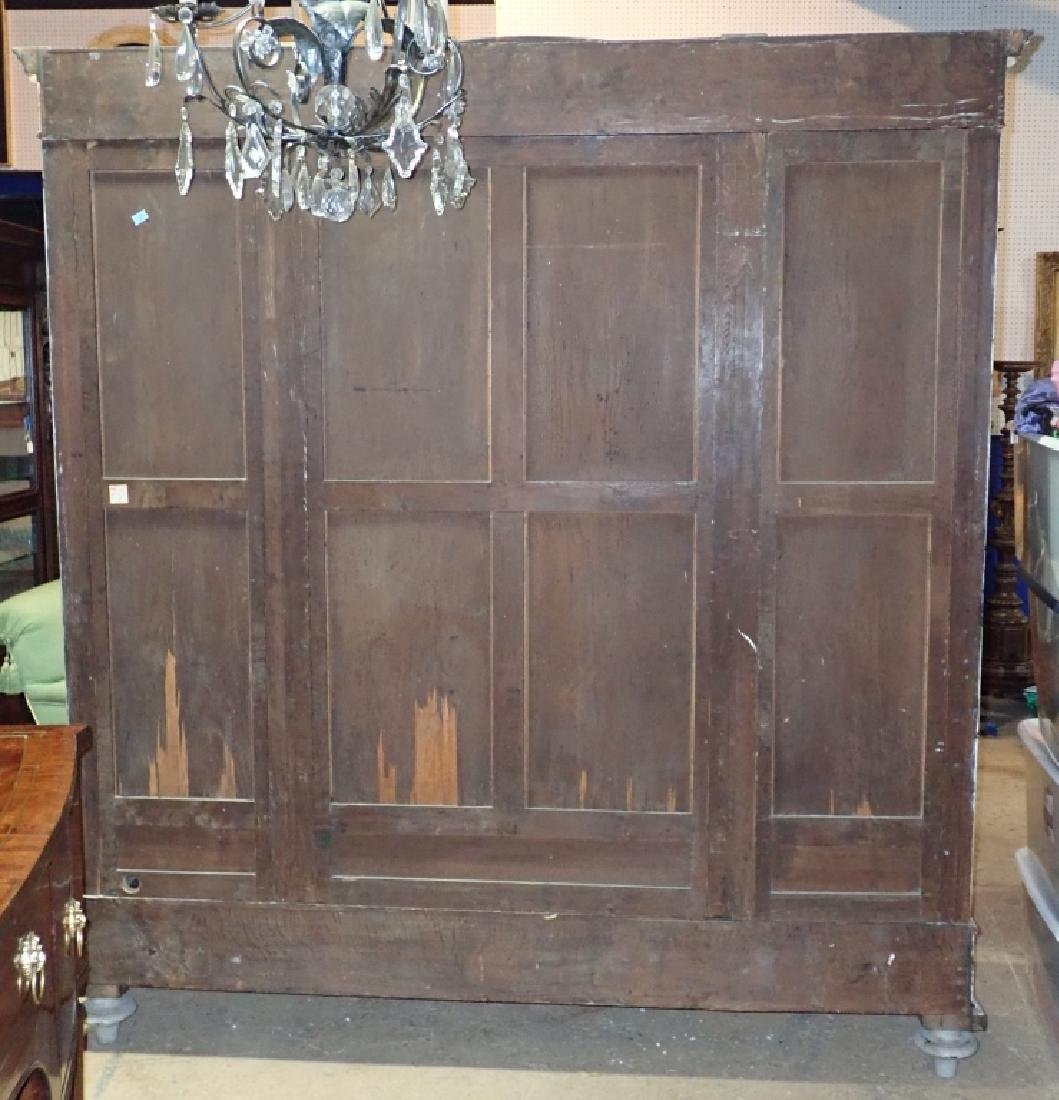 Louis XVI Style Three-Door Painted Armoire - 12