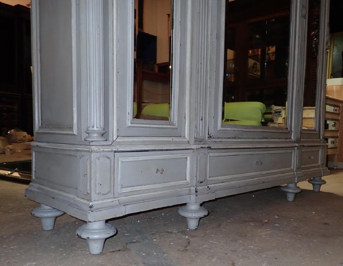 Louis XVI Style Three-Door Painted Armoire - 4