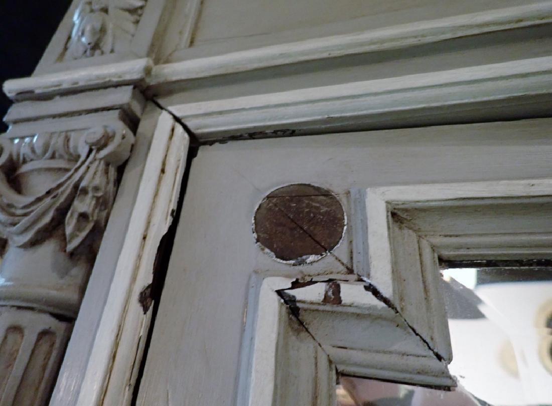 Louis XVI Style Three-Door Painted Armoire - 5