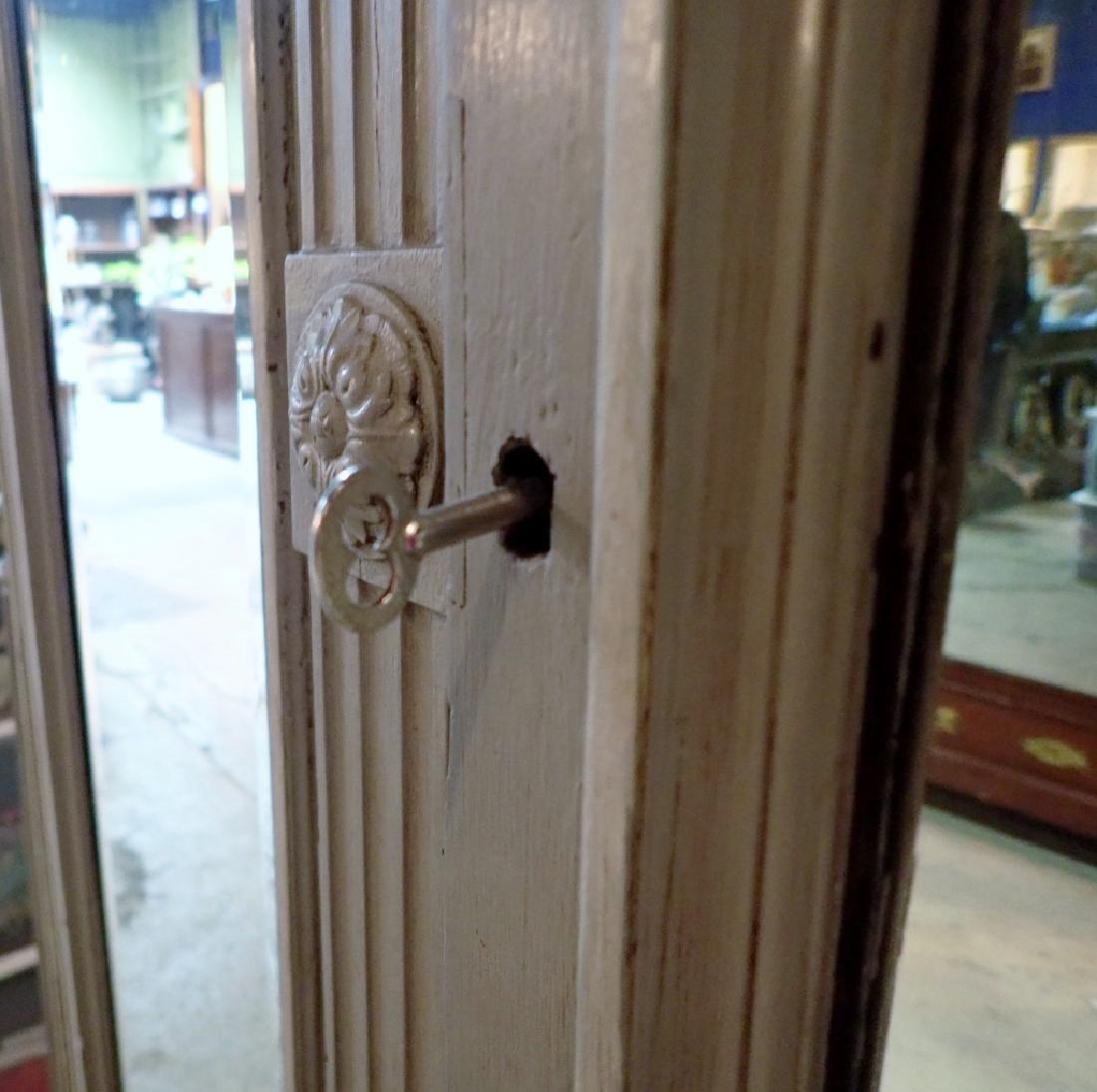 Louis XVI Style Three-Door Painted Armoire - 6