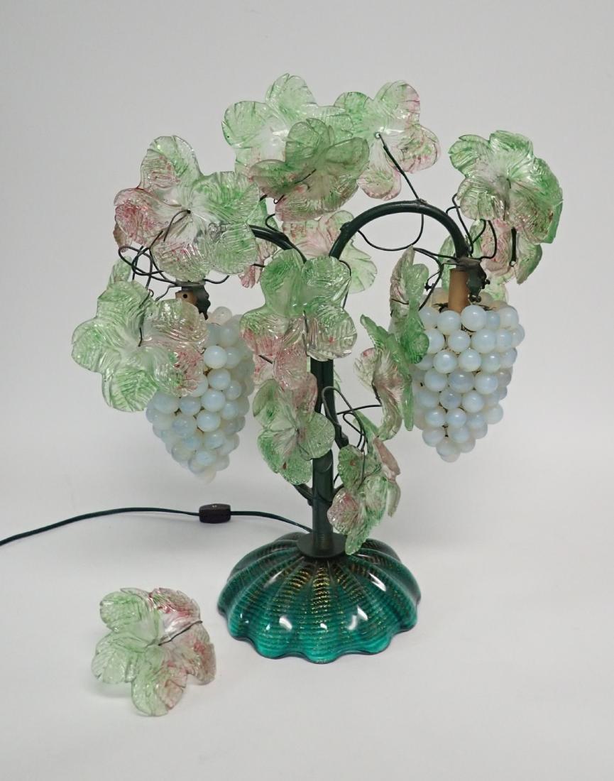 Vintage Venetian Glass Grape Cluster Lamp