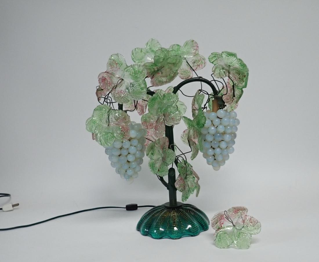 Vintage Venetian Glass Grape Cluster Lamp - 2