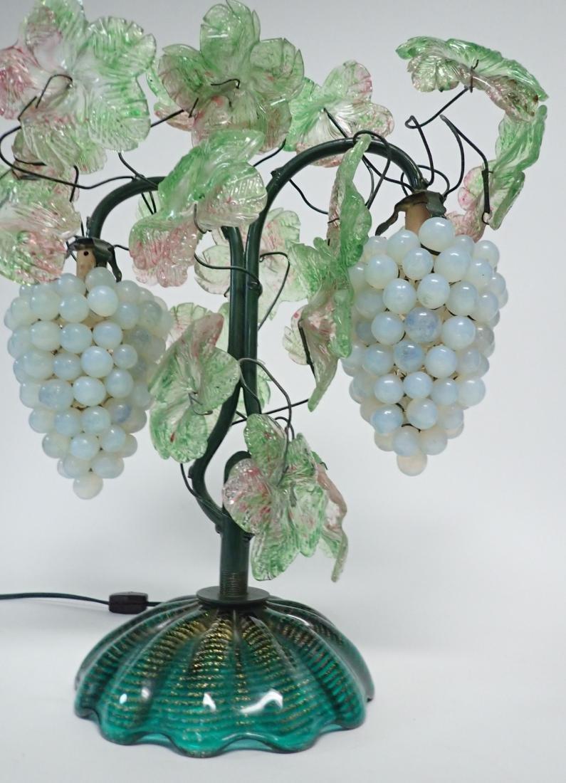 Vintage Venetian Glass Grape Cluster Lamp - 3