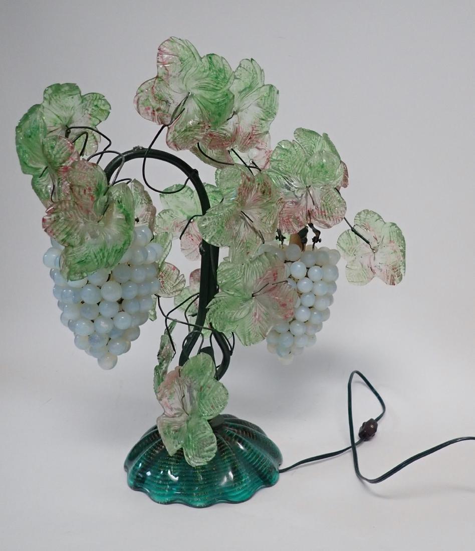 Vintage Venetian Glass Grape Cluster Lamp - 4