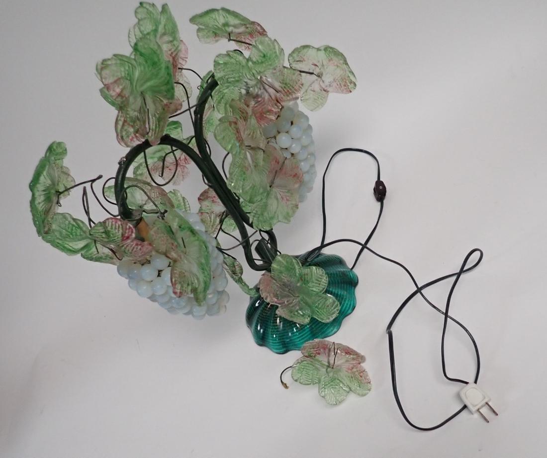 Vintage Venetian Glass Grape Cluster Lamp - 5