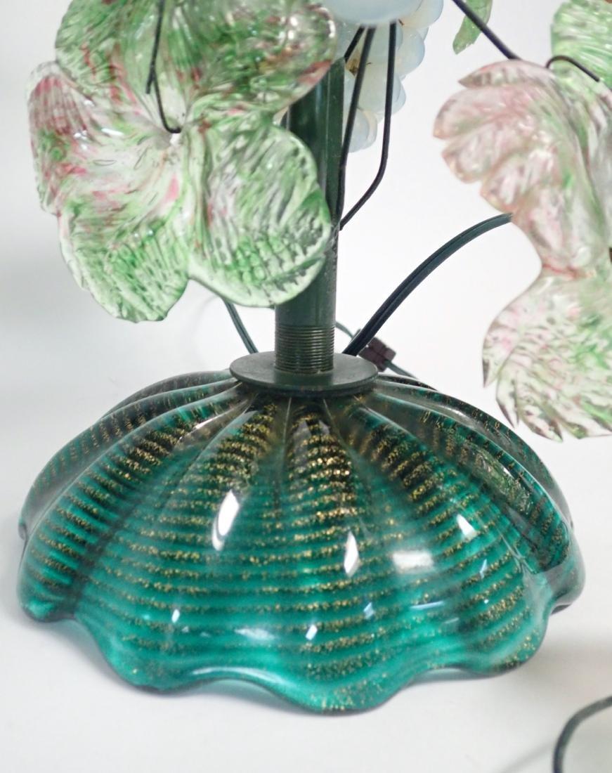 Vintage Venetian Glass Grape Cluster Lamp - 6