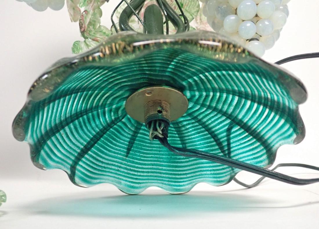 Vintage Venetian Glass Grape Cluster Lamp - 7