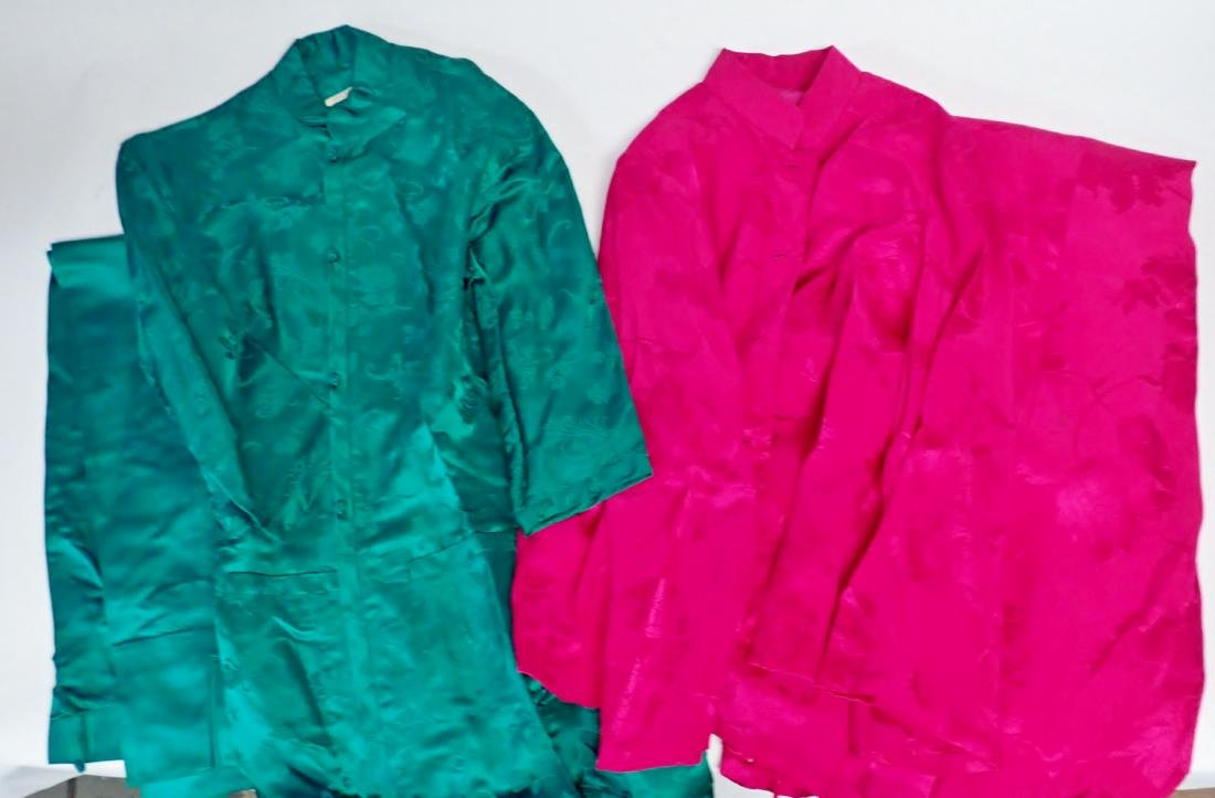 Two Vintage Asian Silk Coordinated Womens Sets - 10