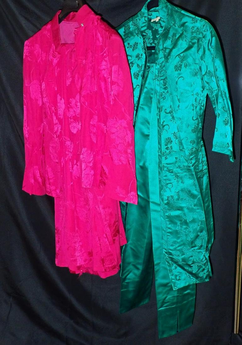 Two Vintage Asian Silk Coordinated Womens Sets