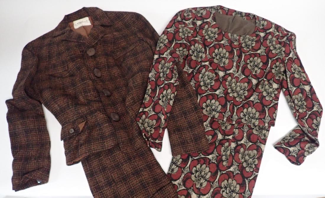 Two Vintage Designer 2-Piece Skirt Suits