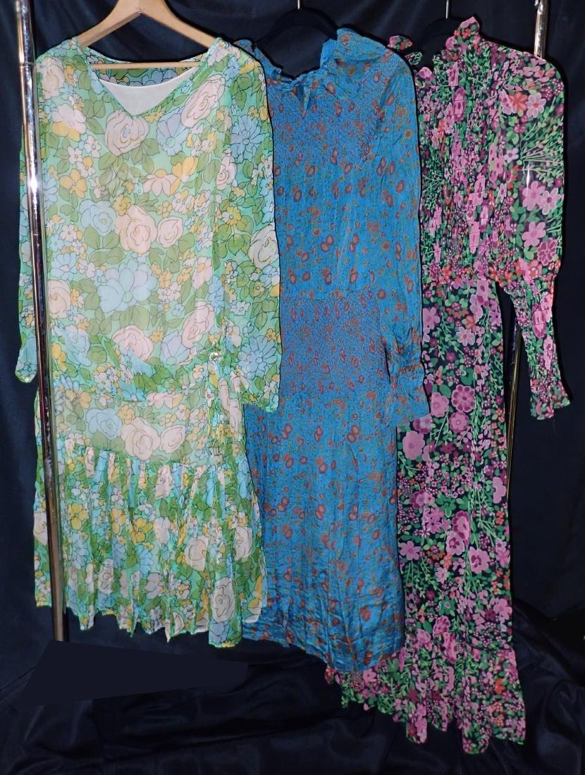 3 Vintage Designer silk dressed