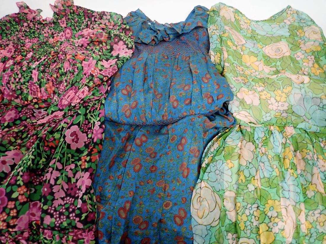 3 Vintage Designer silk dressed - 2