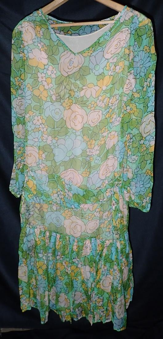 3 Vintage Designer silk dressed - 3