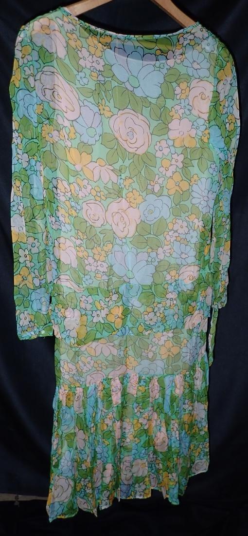 3 Vintage Designer silk dressed - 4