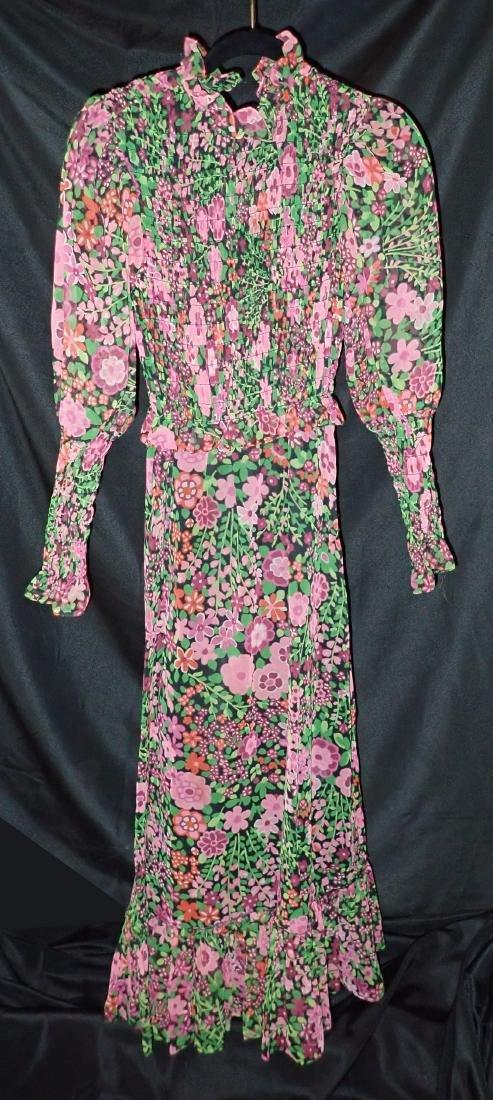 3 Vintage Designer silk dressed - 7
