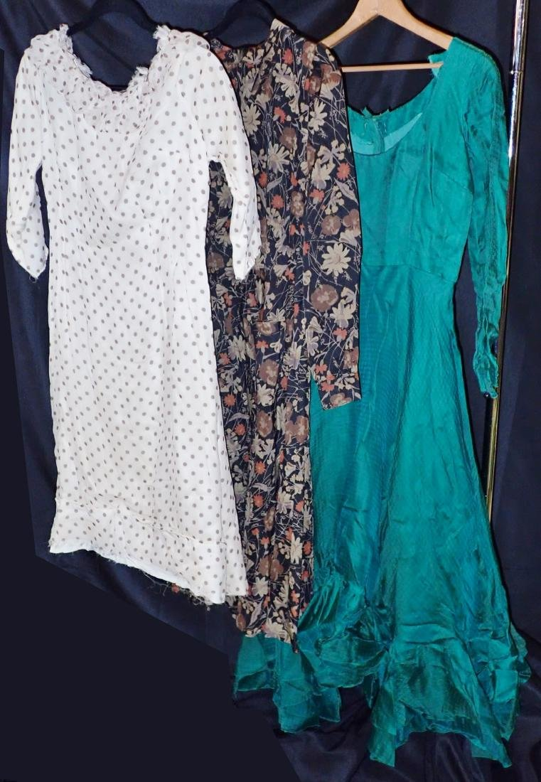 Three Silk Vintage Dresses