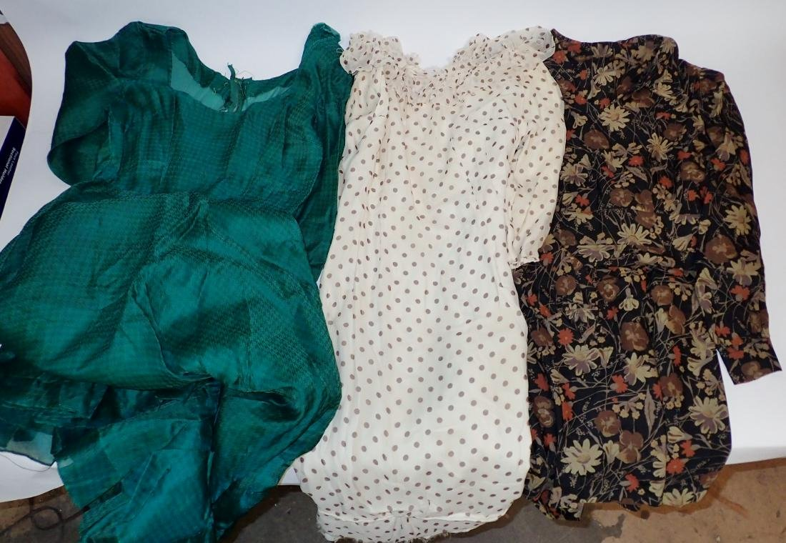 Three Silk Vintage Dresses - 2