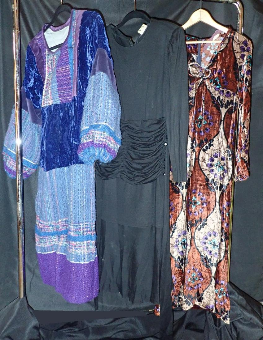 3 Vintage Long-Sleeved Dresses