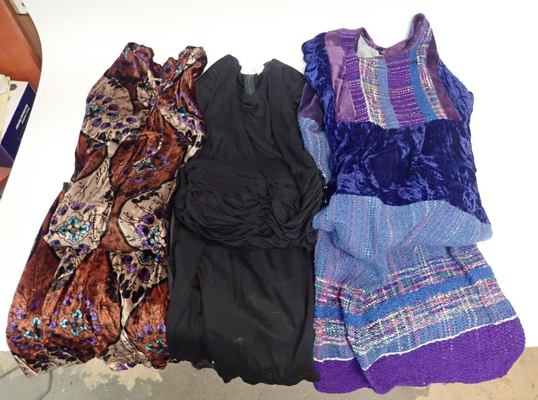 3 Vintage Long-Sleeved Dresses - 2