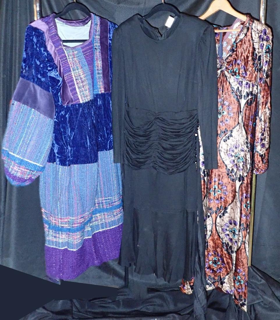 3 Vintage Long-Sleeved Dresses - 3