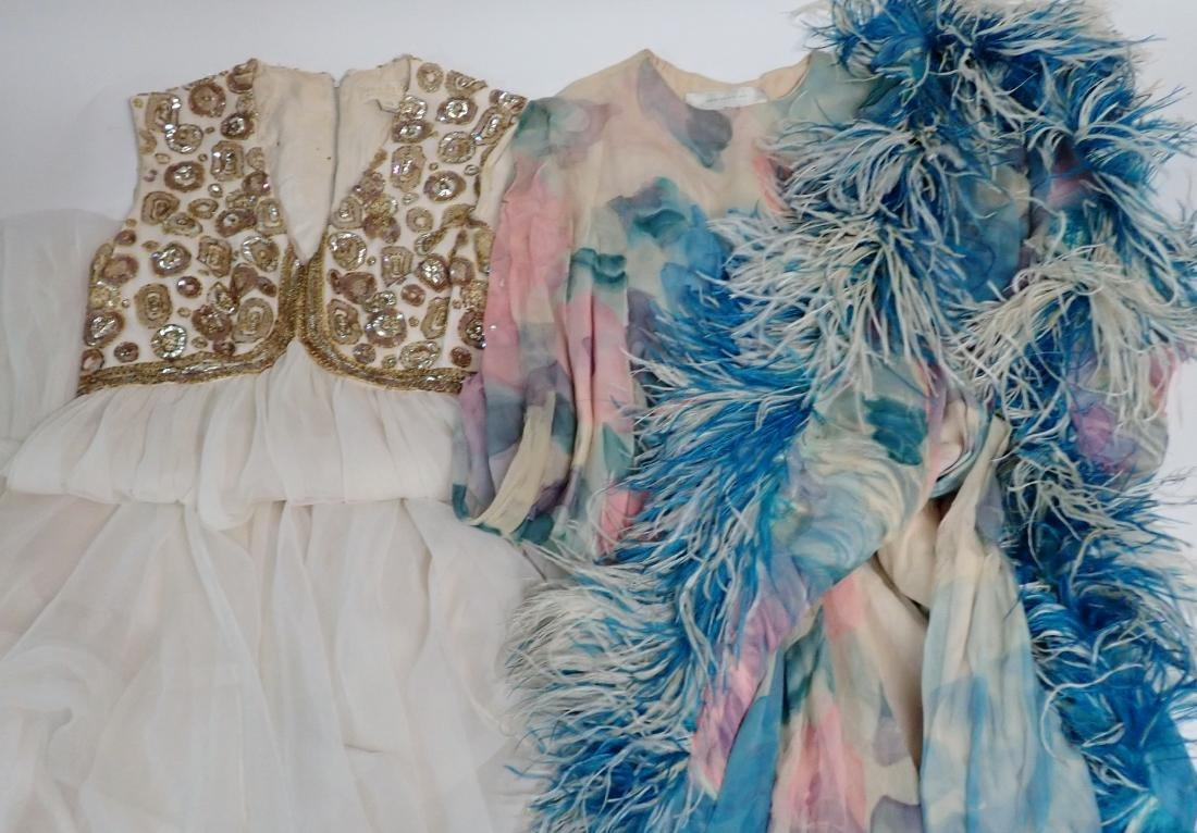 Two Vintage Designer Evening Gowns - 11