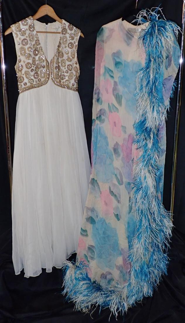 Two Vintage Designer Evening Gowns
