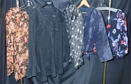 Collection of 5 Vintage Womens Designer Shirts
