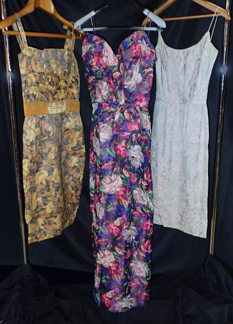 Three Vintage Designer Floral Strappy Dresses
