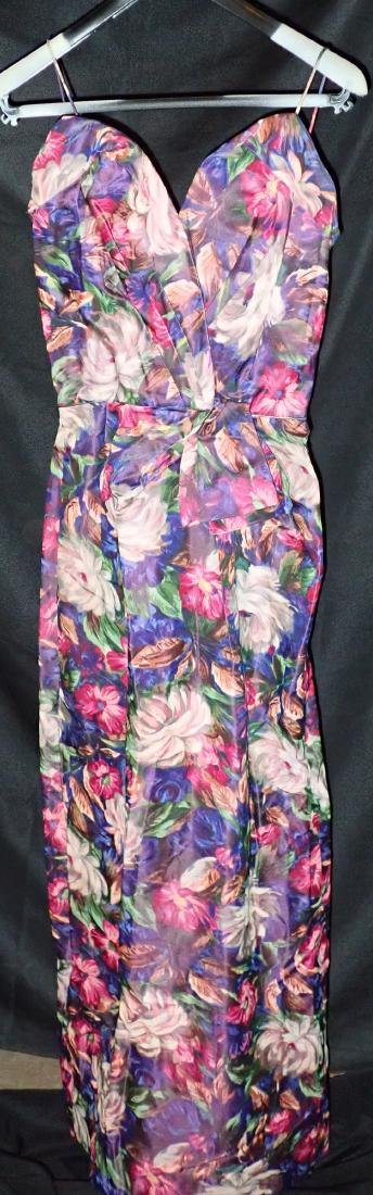 Three Vintage Designer Floral Strappy Dresses - 6