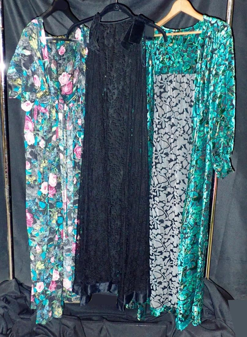 3 Vintage Womens Designer Robes