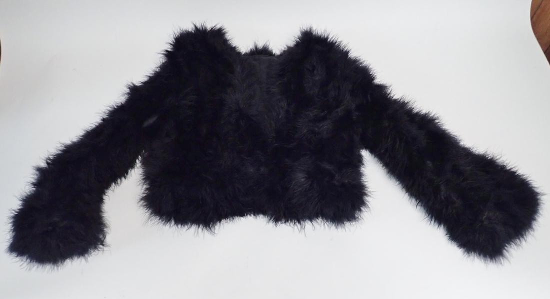 Vintage Black Ostrich Feather Jacket - 2