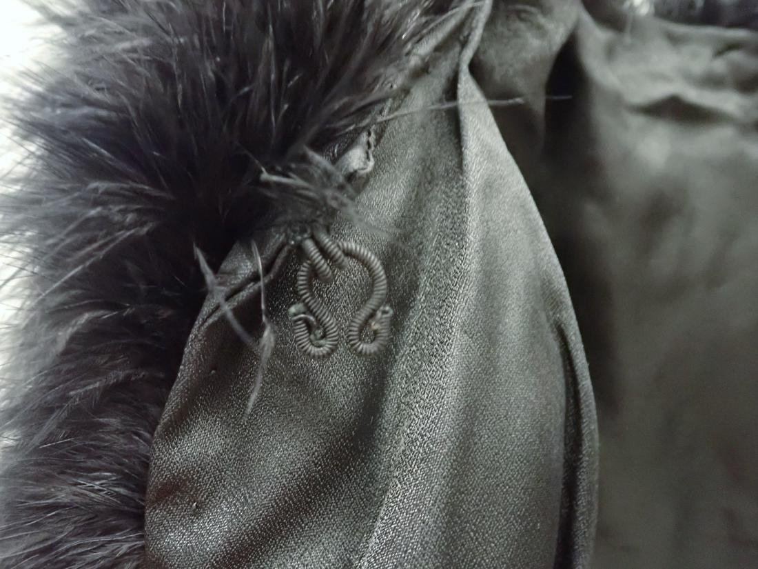 Vintage Black Ostrich Feather Jacket - 6