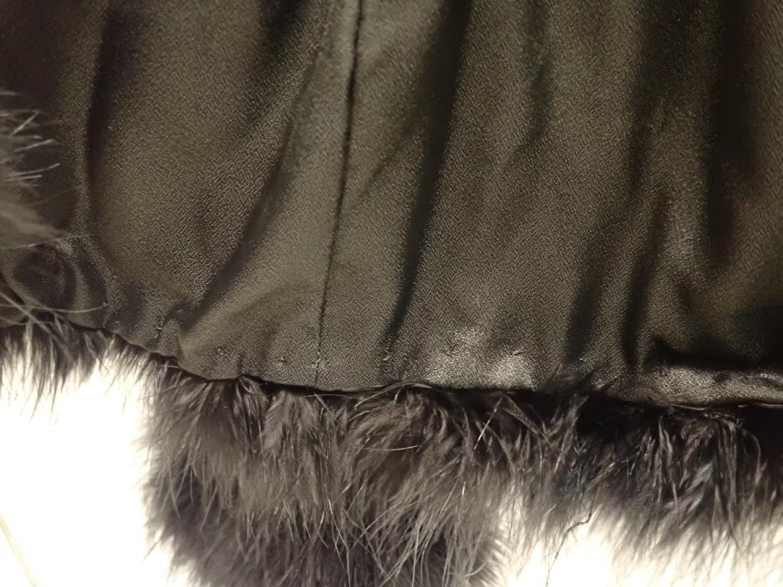 Vintage Black Ostrich Feather Jacket - 7