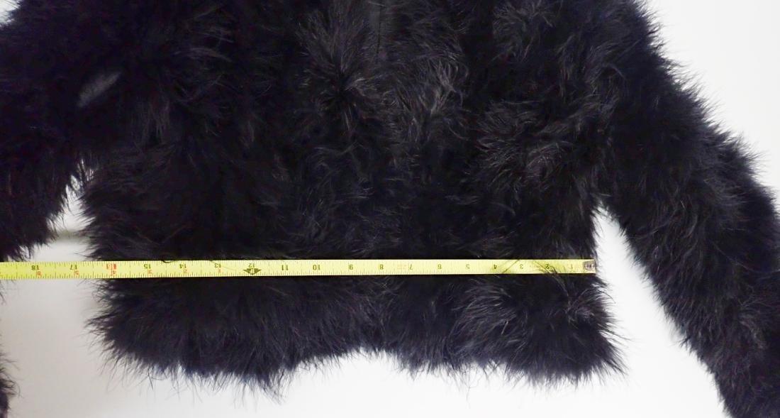 Vintage Black Ostrich Feather Jacket - 8