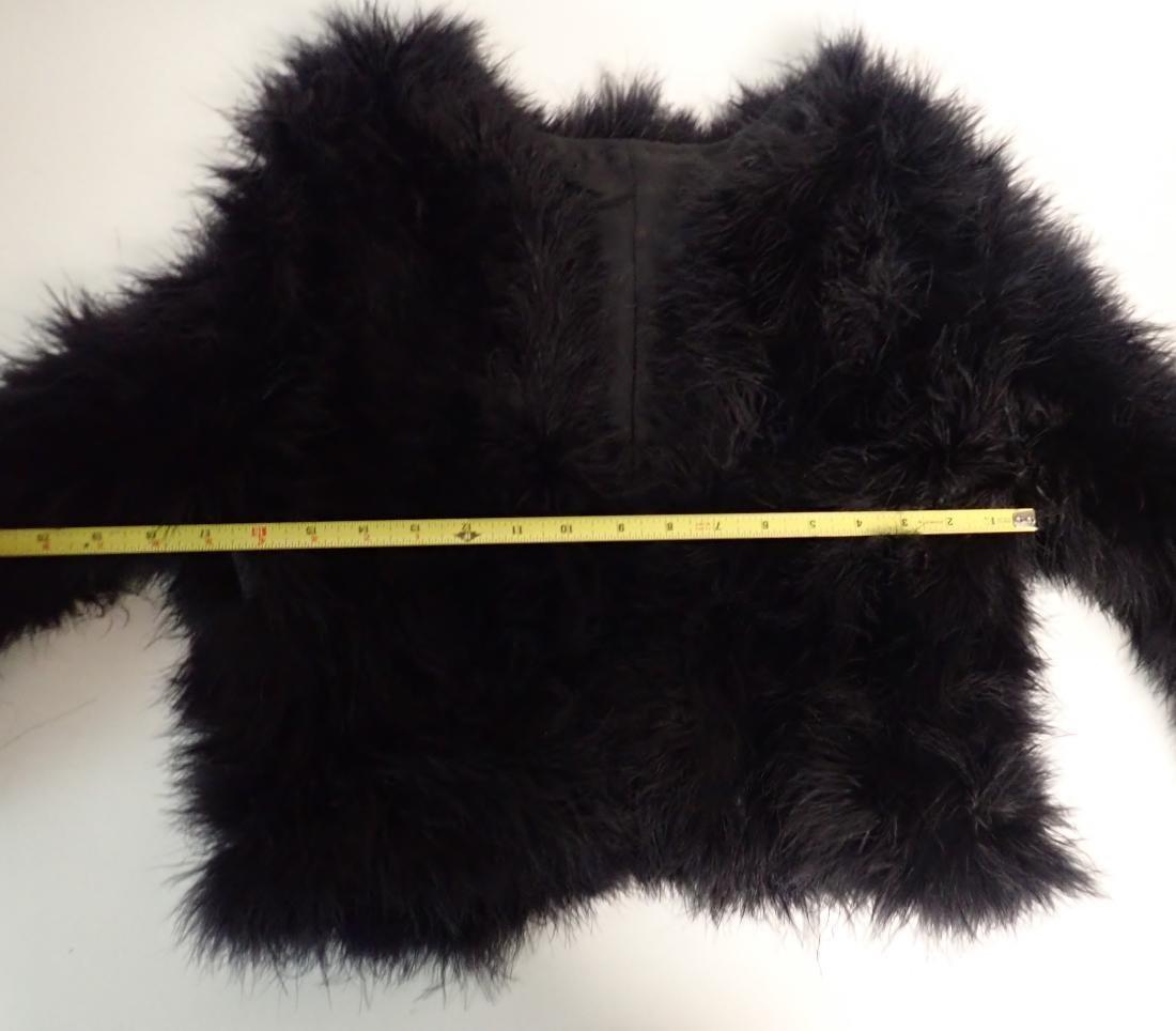 Vintage Black Ostrich Feather Jacket - 9