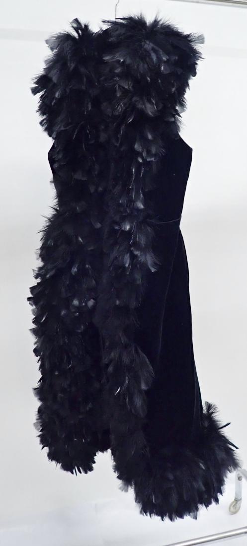 Vintage Black Feathered Sleeveless Jacket - 7