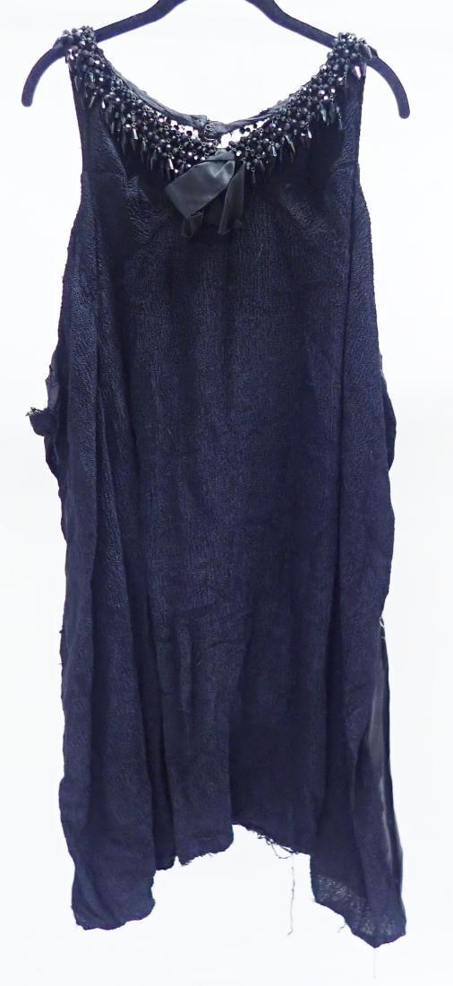 3 Vintage Black Beaded Dresses - 2
