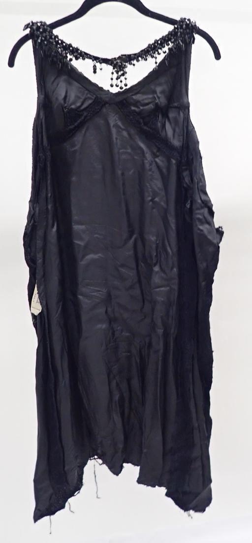 3 Vintage Black Beaded Dresses - 3
