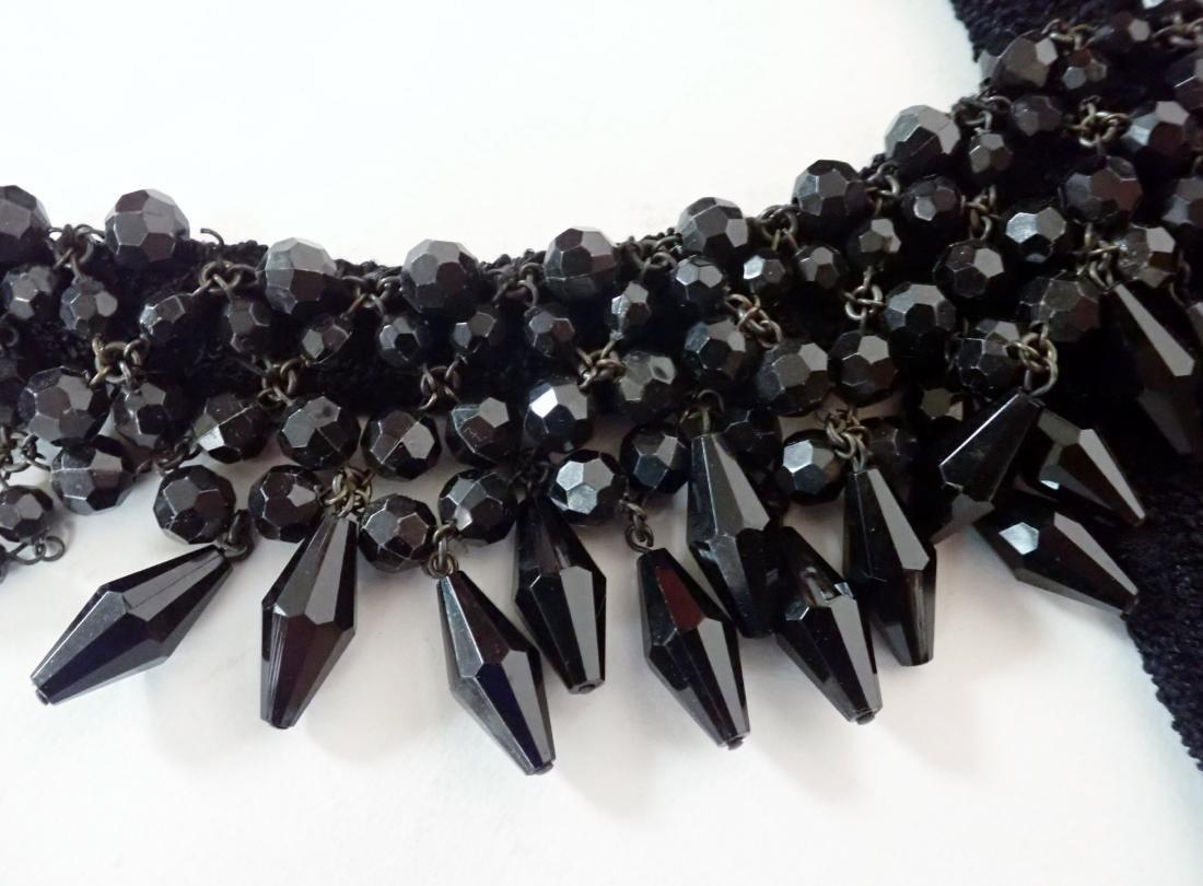 3 Vintage Black Beaded Dresses - 4