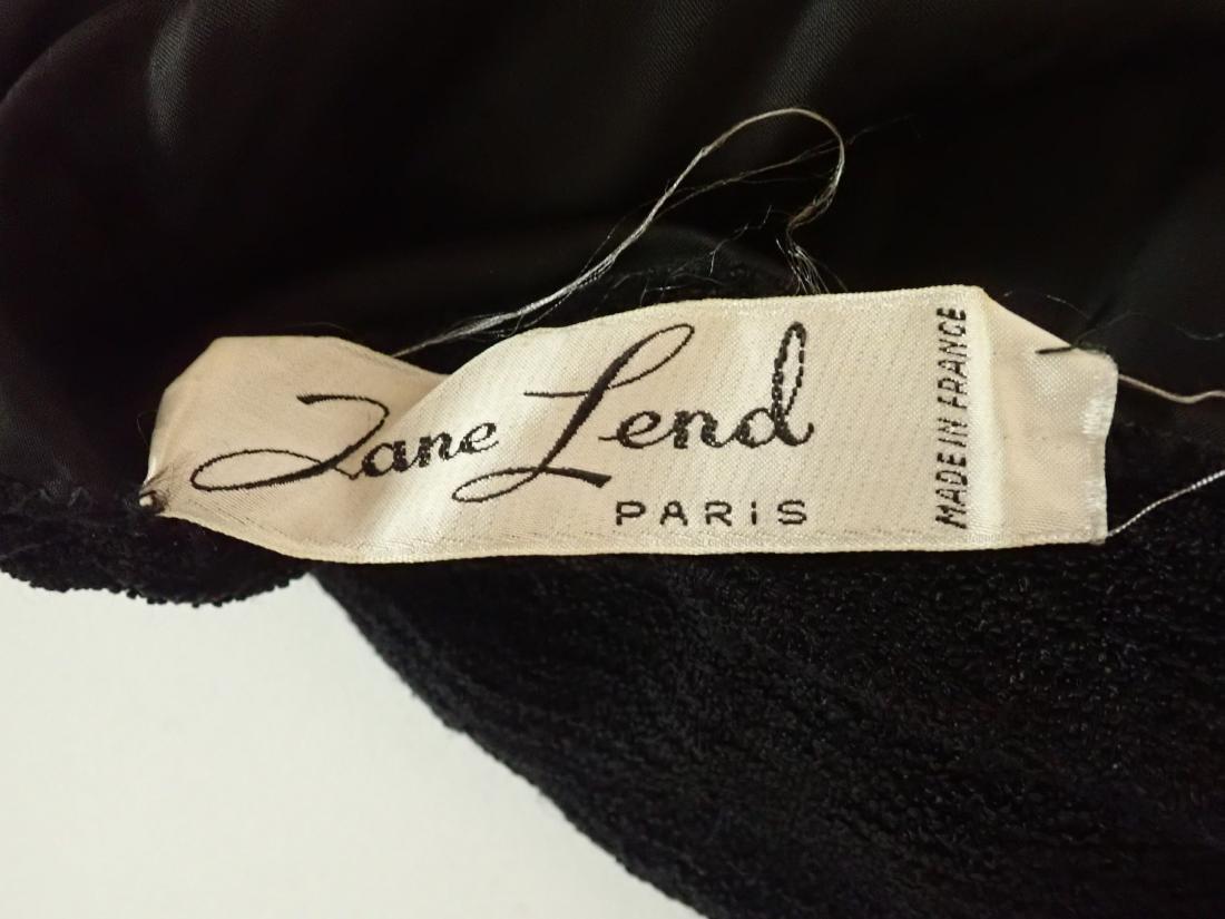 3 Vintage Black Beaded Dresses - 5