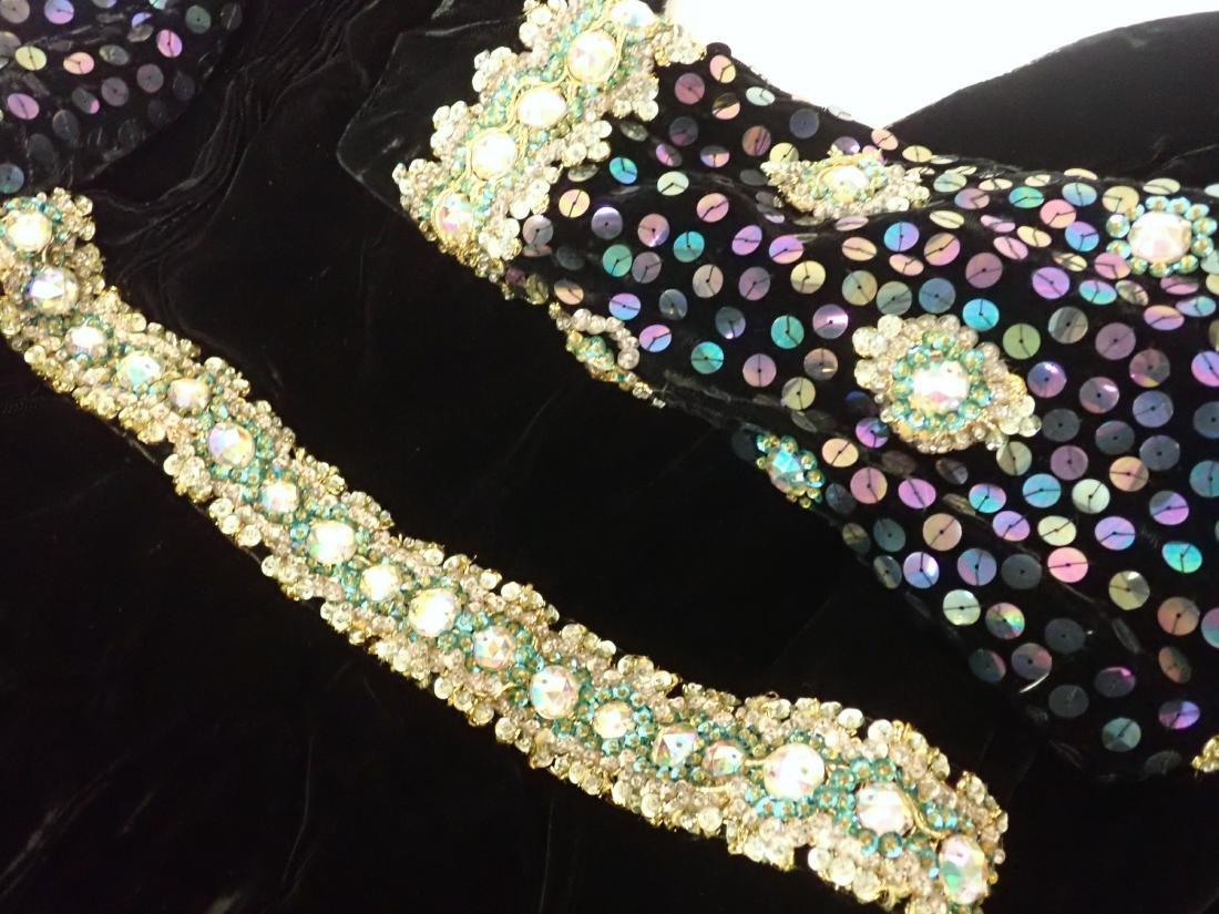 3 Vintage Black Beaded Dresses - 9