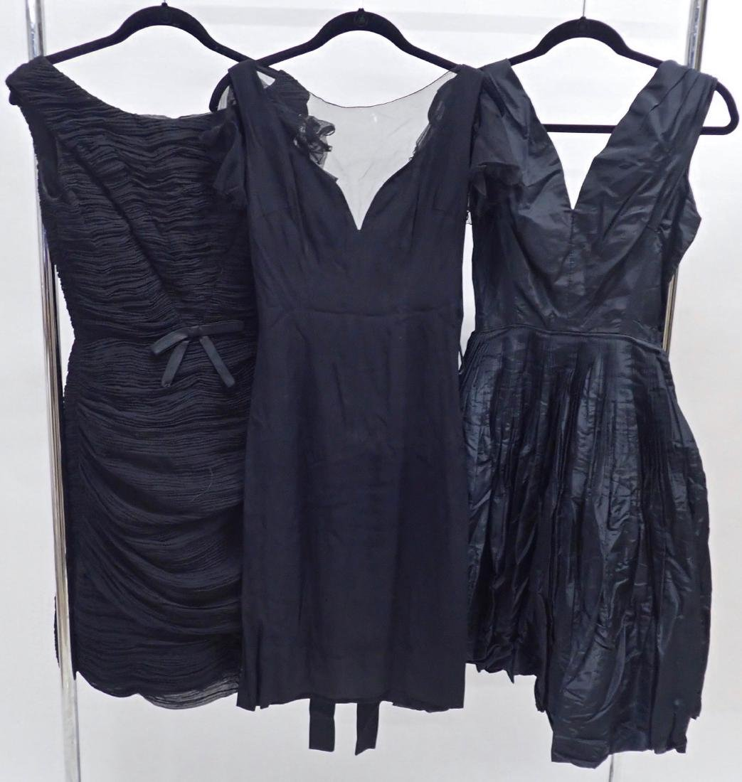 Three Vintage Designer Little Black Dresses